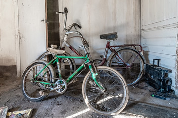 Deurstickers Fiets old bicycles