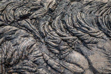 Lava flow makes abstract patterns