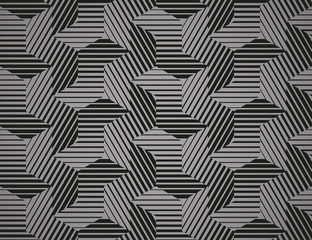Foto op Canvas Geometrisch Abstract geometric pattern with stripes, lines. Seamless vector background. Black and grey ornament. Simple lattice graphic design