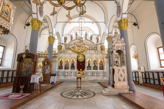 Interior of an Orthodox church in Plovdiv (Bulgaria)