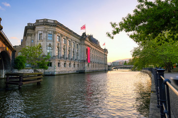 Foto op Canvas Berlijn Berlin, Germany - May 4, 2019 - The Bode Museum located on Museum Island in the Mitte borough of Berlin, Germany at dusk.