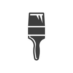 Paint brush icon. Narrow brush. Vector on a white background