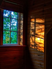 Cottage Window at Sunrise