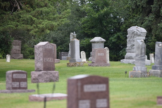 cemetery in country