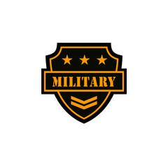 Military Logos Badges Army Symbols Stock Vector