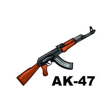 ak-47 vector. gun isolated on white background