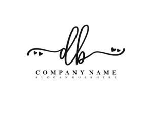 Obraz DB Initial handwriting, Feminine logo design template vector - fototapety do salonu