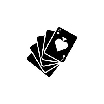 Playing cards isolated icon on a white background.