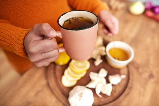Warming tea with spices and herbs