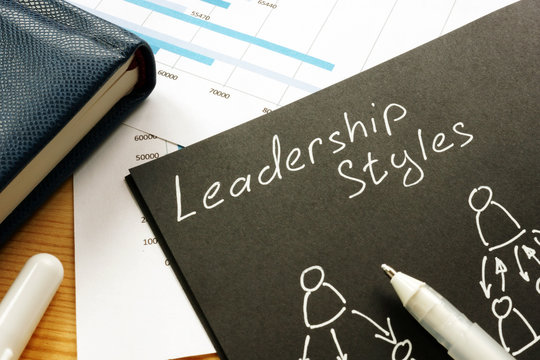 List of Leadership styles types on a page.