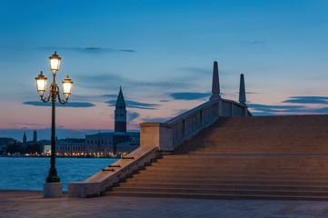 Fototapete - Idyllic landscape of Venice, Italy at dusk