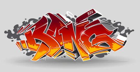 Foto auf AluDibond Graffiti Bang Graffiti Vector Art