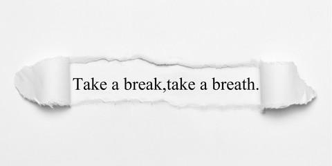 Fototapeta Take a break,take a breath.  obraz