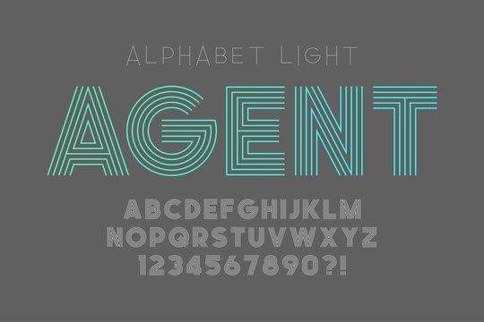 Original bold alphabet, creative characters set.
