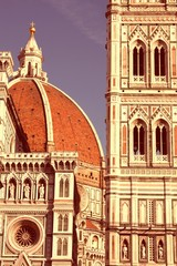 Wall Mural - Florence cathedral. Vintage filtered color style.