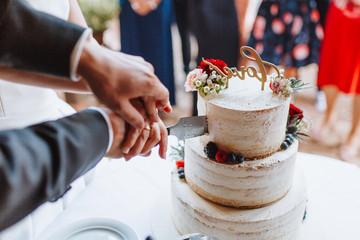 Anschnitt Hochzeitstorte Cake
