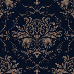 Damask pattern background Vector ornament