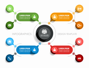 Obraz Infographic design template with place for your data. Vector illustration. - fototapety do salonu