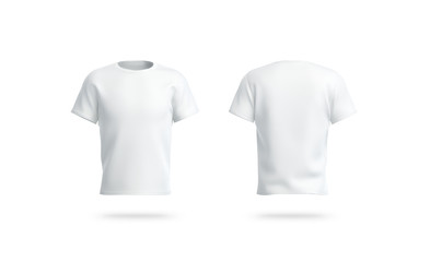 Blank white clean t-shirt mockup, isolated, front and back view, Fototapete