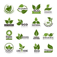 Leaf logo. Bio nature green eco vector symbols business logo template. Illustration of bio eco green, nature logo environment