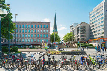 Wall Murals Northern Europe DORTMUND, GERMANY - June 9, 2019: Marienkirche (St. Mary's Church) is a church in Dortmund, Germany