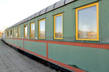 KALININGRAD, RUSSIA. Car-salon № 70010 of 1937 built. Museum of History of Kaliningrad Railway