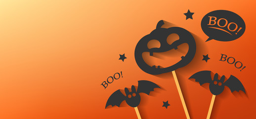 happy halloween day banner vector design 2019