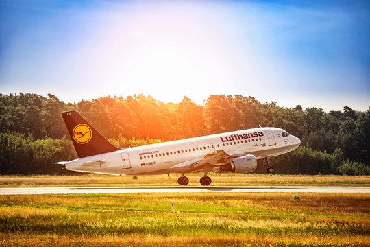 FRANKFURT,GERMANY: JUNE 22, 2017: Airbus A319 LUFTHANSA.