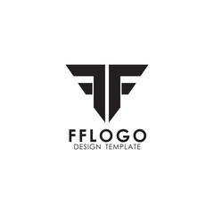 FF letter initial logo design vector template