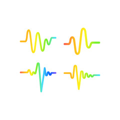 Sound wave graphic design template vector isolated illustration