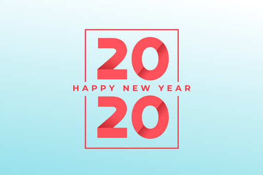Happy new year 2020 greeting card design