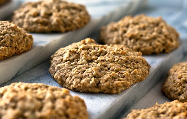 Close up of apple walnut drop scones