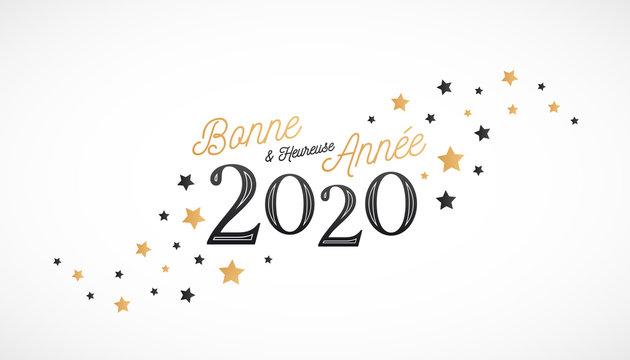 Bonne et Heureuse Année 2020, carte de voeux