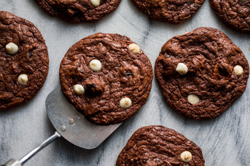 Close up of chocolate cookies