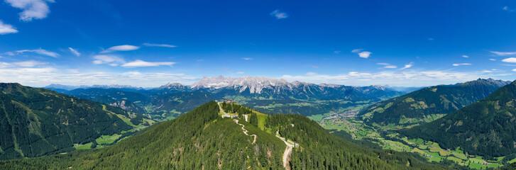 Hochwurzen and Dachstein mountain in the Austrian Alps