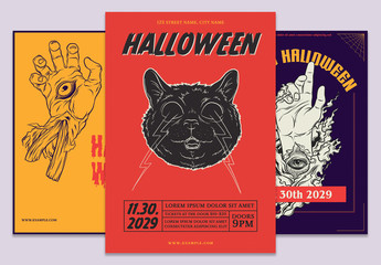 Halloween Events Flyer Set