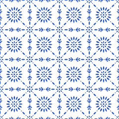 Blue watercolor mosaic pattern