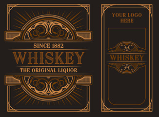 Vintage label template for whiskey.. Fototapete