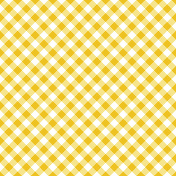 Vector seamless classic yellow table cloth texture with diagonal lines