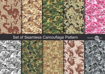 Fototapeta Seamless Camouflage pattern vector