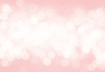 Wall Mural - pink abstract blurred light bokeh background