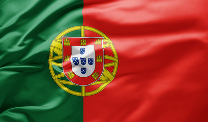 Waving national flag of Portugal Fotomurales