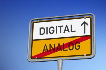 Wegweiser in Richtung Digital