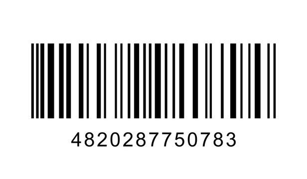 Barcode on white background. Vector illustration