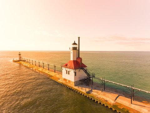 St. Joseph Pier in Michigan