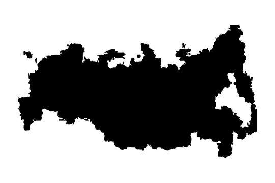 Soviet Union, USSR silhouette map