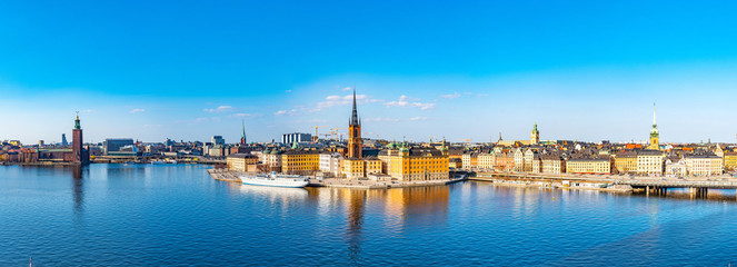 Photo sur Plexiglas Stockholm Gamla stan in Stockholm viewed from Sodermalm island, Sweden