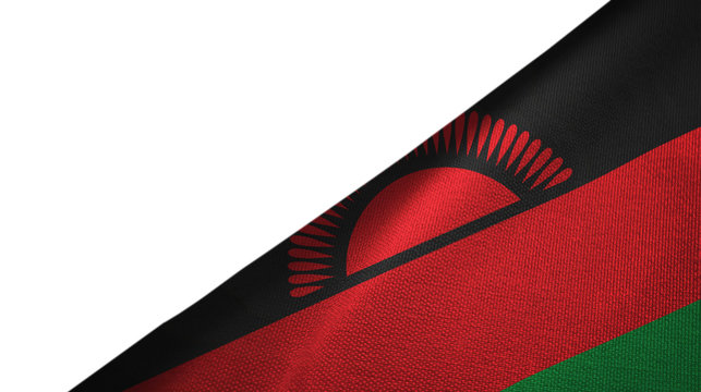 Malawi flag right side with blank copy space