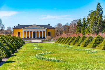 Palace at the botanical garden in Uppsala, Sweden Wall mural
