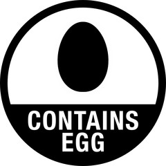 Contains Egg Symbol for Food Packaging Label